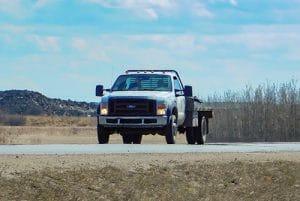 Flatbed hot shot truck Edmonton