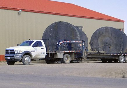 hotshot truck with gooseneck trailer Nisku Alberta